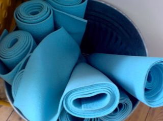 Yoga Mats in Trash