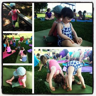 Yoga in the Park Collage 2013_Addie and Elsa